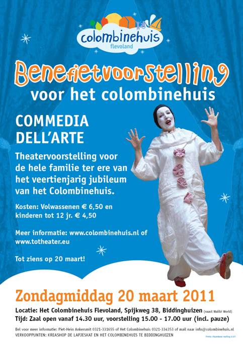 Commedia dell'arte Totheater, poster, foto Yvonne Rehorst