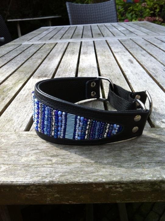 Sighthound collar made by Saluna Design