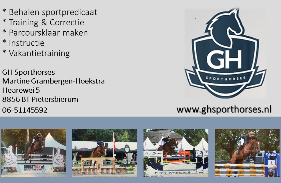 Advertentie GH Sporthorses