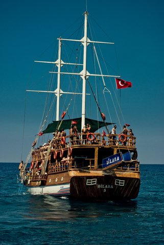 boot tocht Alanya en Side