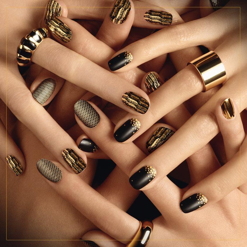 nailart stickers zwart goud