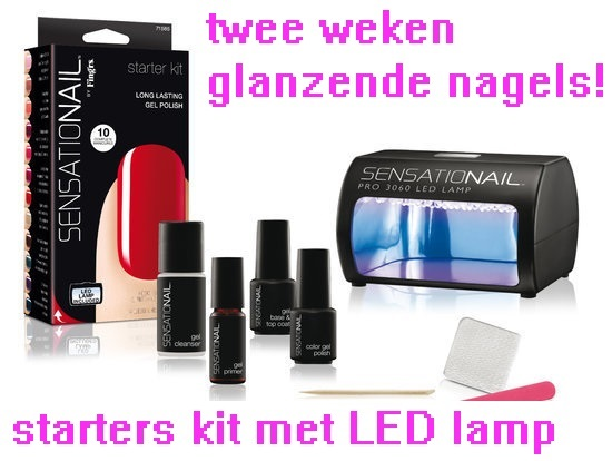 gellak set met led lamp