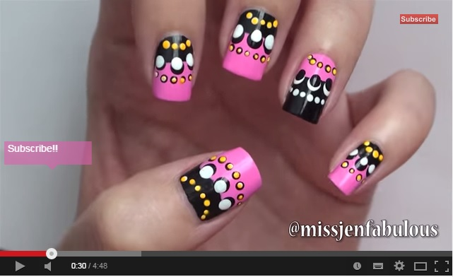 nailart tutorial dots