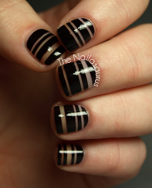 Striping Tape Nail Art Tutorial: Low Budget Nail Art