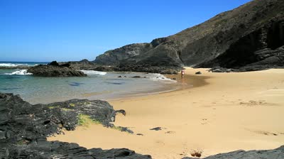 Praia da Carriagem in het park Costa Vicentina